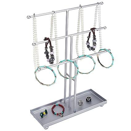 Amazoncom 3 Tier Modern Metal TBar Jewelry Display Organizer