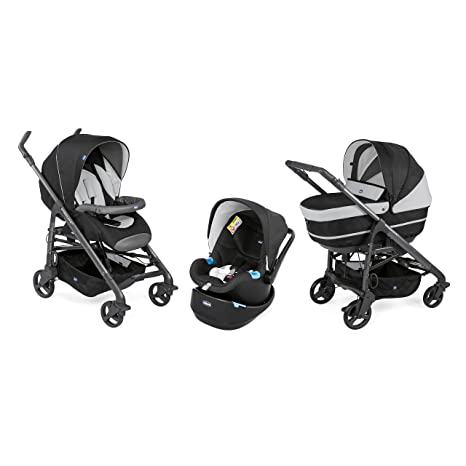 Chicco cochecito combinee Trio Love up negro Jet Black