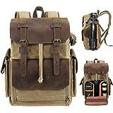 Endurax Leather Camera Backpack Bag for Photographers Waterproof DSLR Backpacks