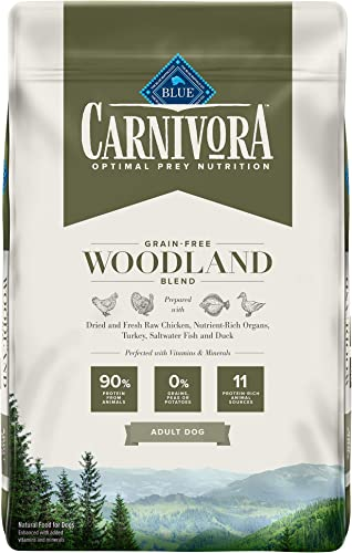 Blue Buffalo Blue Carnivora Woodland Blend Optimal Prey Nutrition High Protein, Grain Free Natural Adult Dry Dog Food