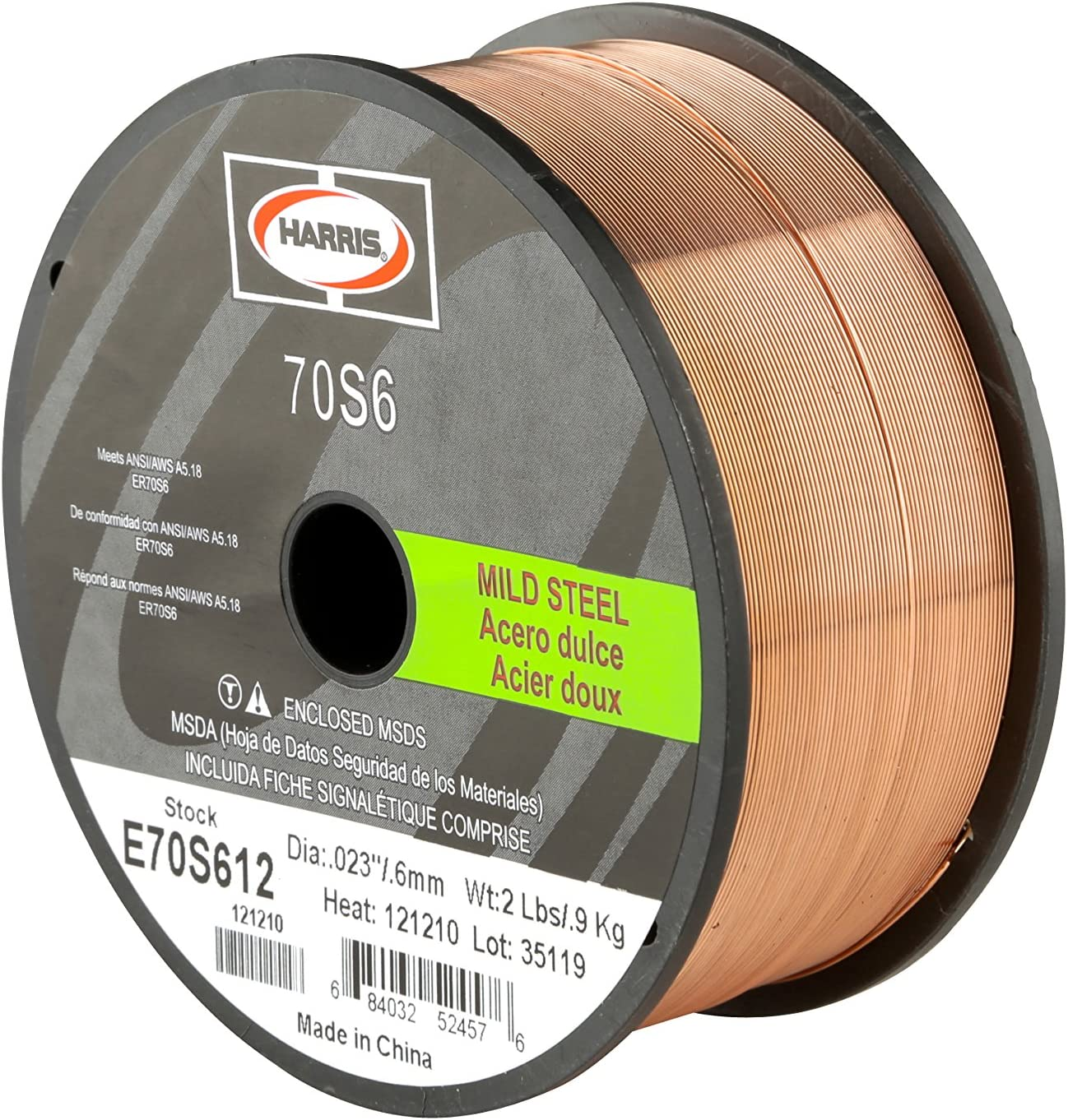 #5 Harris E70S6F8 ER70S-6 MS Spool with Welding Wire