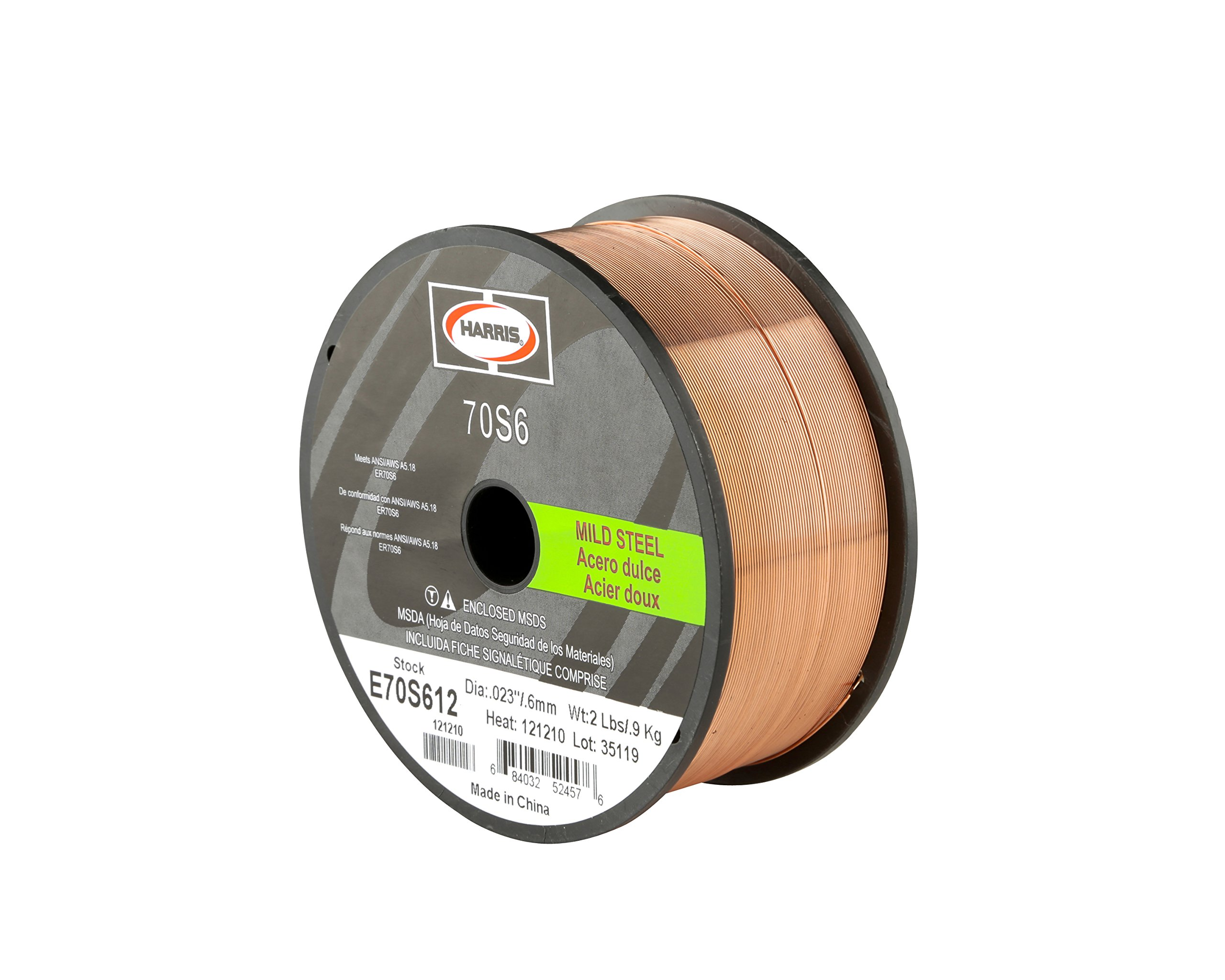 Harris E70S6F8 ER70S-6 MS Spool with Welding Wire, 0.035 lb. x 33 lb. by HARRIS