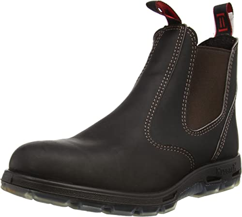 RedbacK Men's Bobcat UBOK Dark Brown Elastic Sided Soft Toe Leather Work Boot