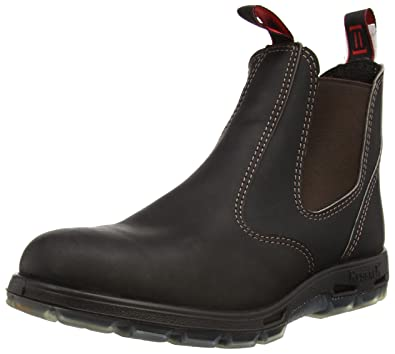 b365ed78d2cbe RedbacK Men s Bobcat UBOK Elastic Sided Soft Toe Leather Work Boot (4 AU 3E  (