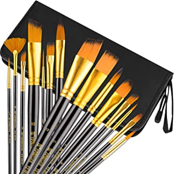 15-Pc UnityStar Long Handle Artist Brushes