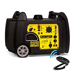 Champion 100261- 3100/3400w Inverter, remote start generator