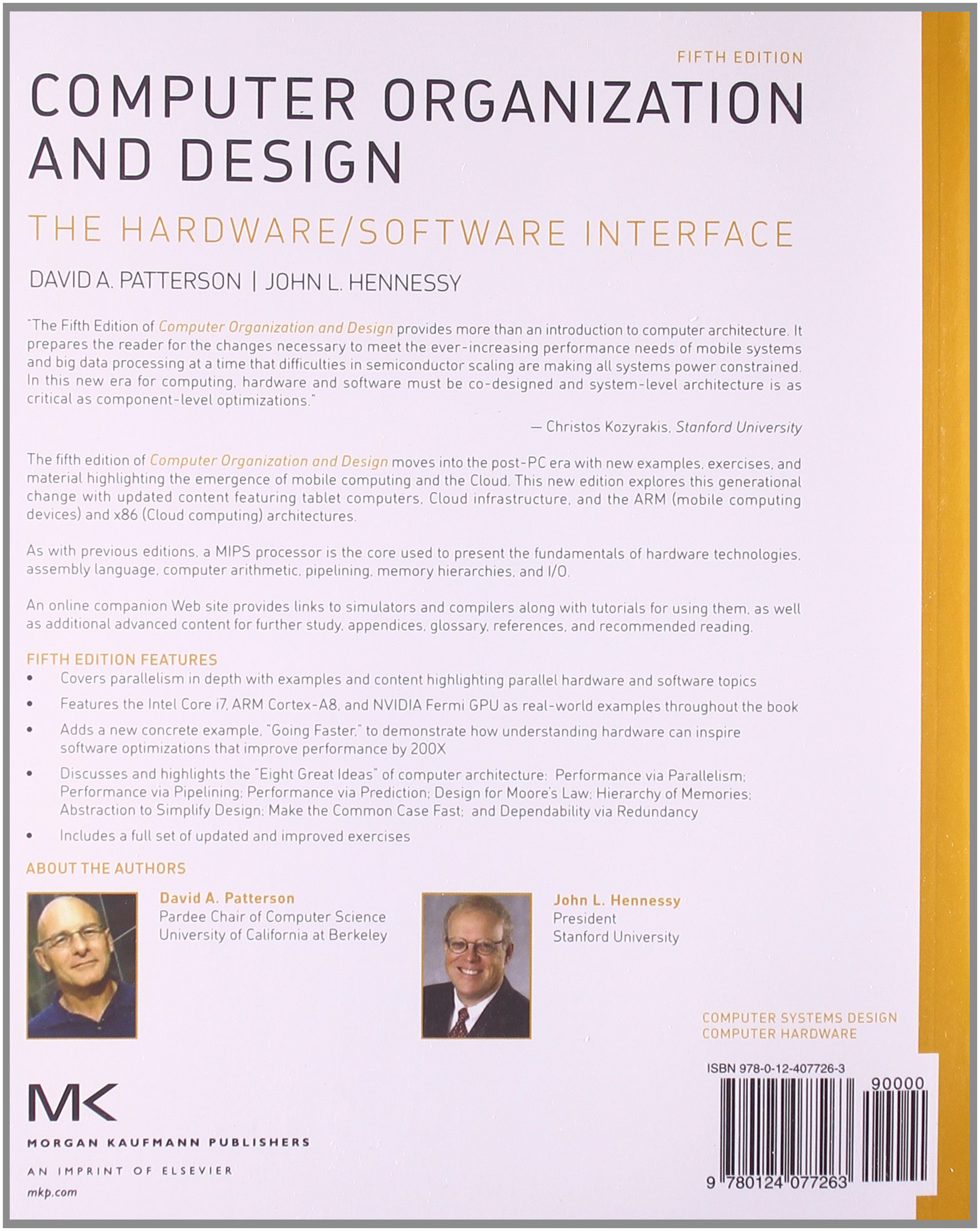 Computer organization and design mips edition the hardware computer organization and design mips edition the hardwaresoftware interface david a patterson john l hennessy 9780124077263 books amazon fandeluxe Images