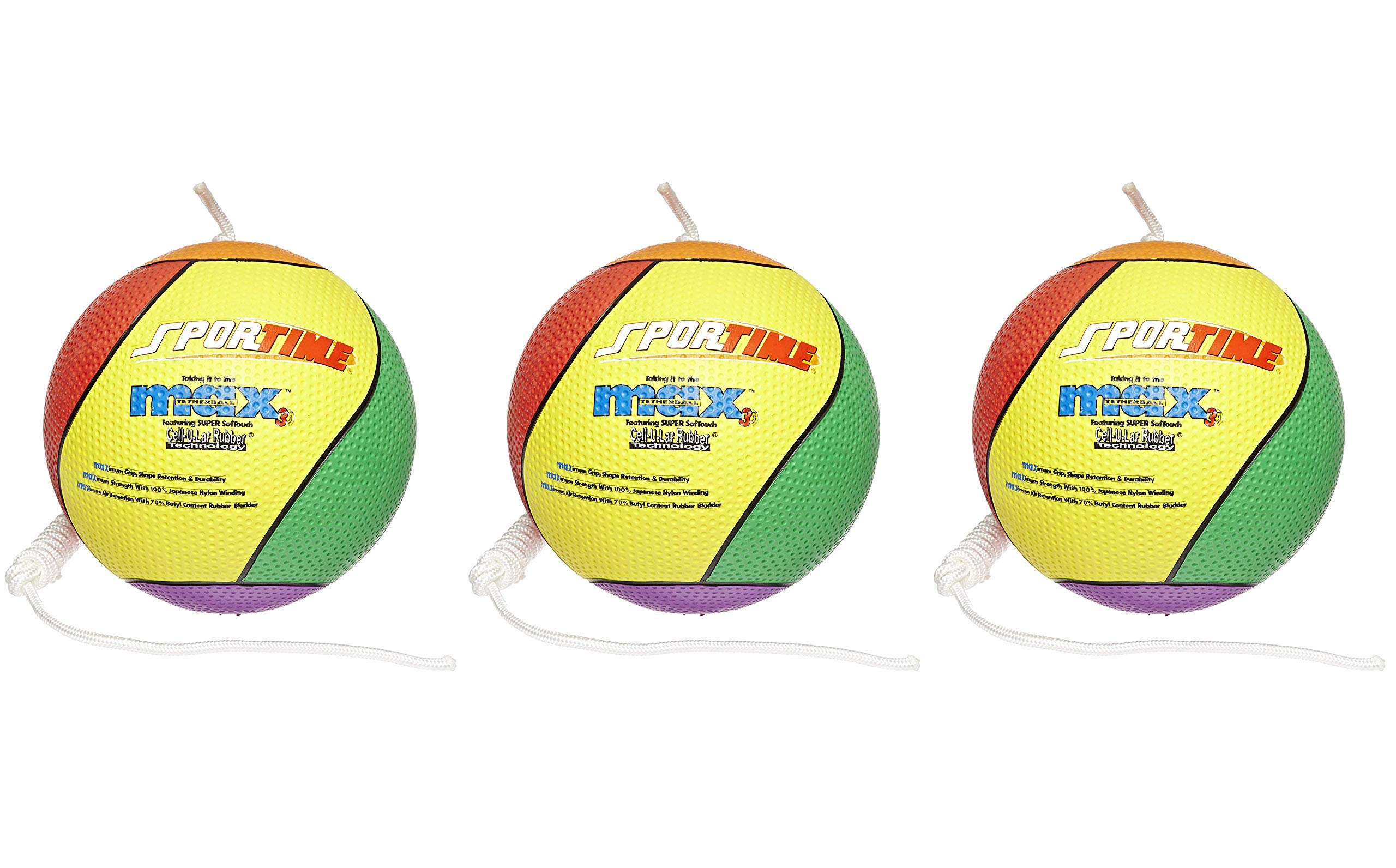SportimeMax Tetherball, Multiple-Color (Тhrее Pаck) by Sportime