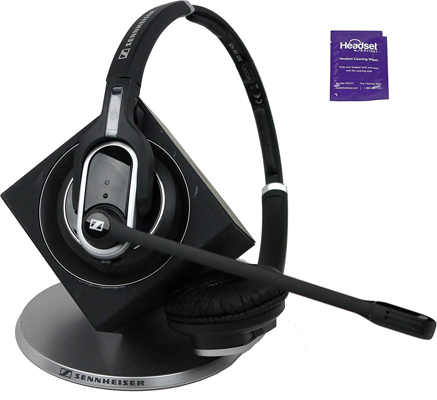 Sennheiser DW Pro 2 Wireless Headset Included with Free Headset Advisor Wipe (Renewed)