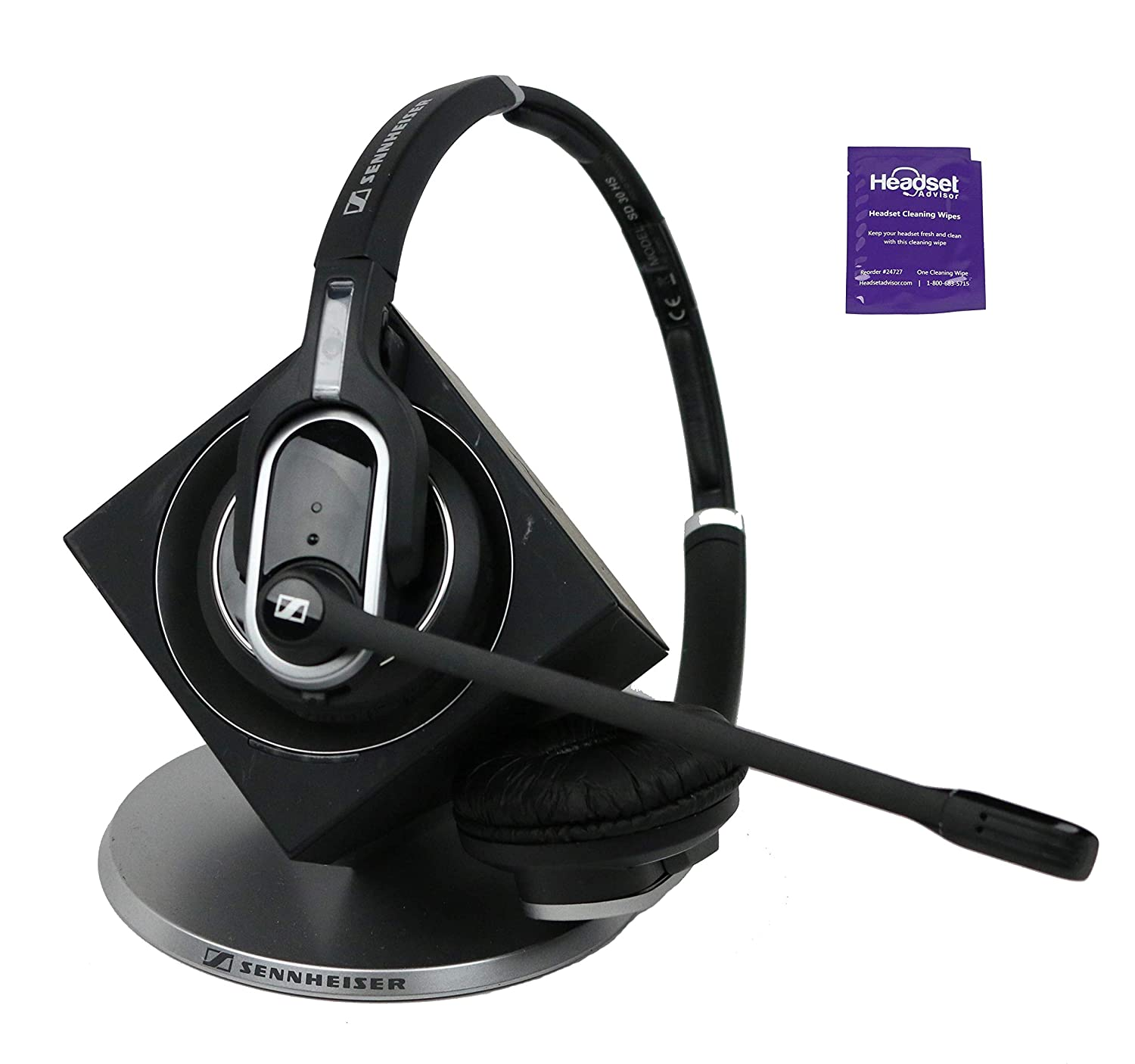 48ff0eeb47c Amazon.com: Sennheiser DW Pro 2 Wireless Headset Included with Free Headset  Advisor Wipe (Certified Refurbished): Electronics