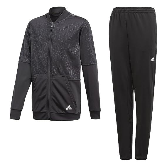 adidas YB Iconic Suit Chándal, Niños, Gris (Carbon/Blanco), 158 ...