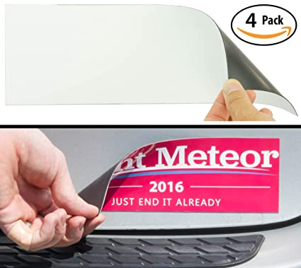 Cut to size bumper sticker magnetizer 4 pack turn any decal into a