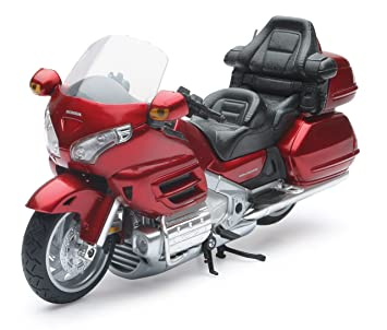 New Ray 57253 Moto Honda Goldwing , Vehículo Listo, Modelo A Escala 1/12, Colores Surtidos