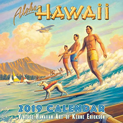 Amazon Com Hawaii 2019 Deluxe Wall Calendar Aloha Hawaii By