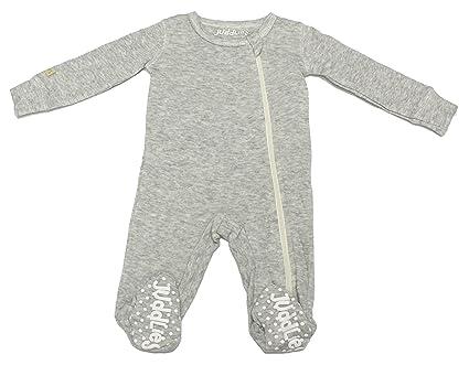 juddlies Designs ju-jud02013 m breathe-eze pijama con pies antideslizante, gris
