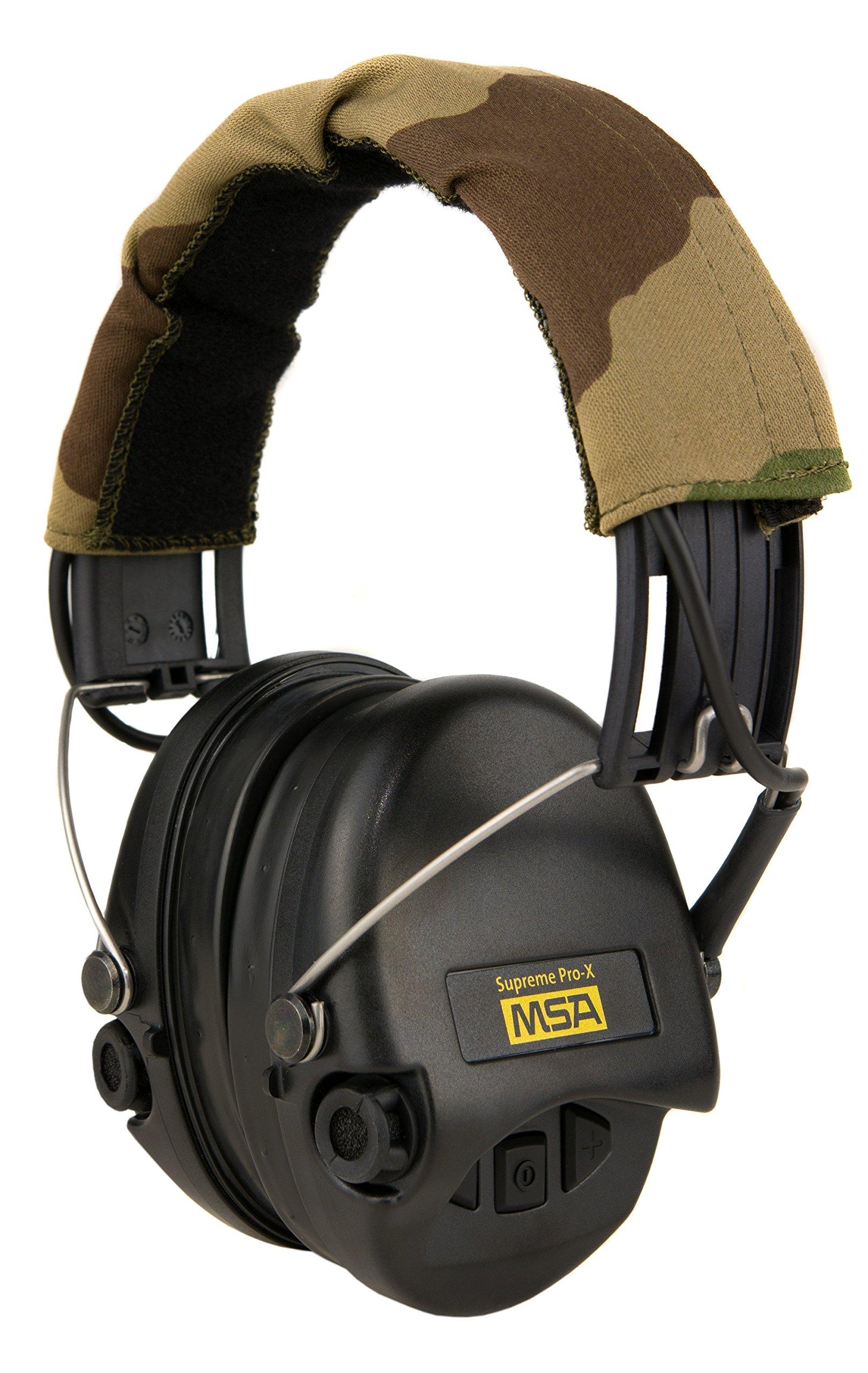 MSA Sordin Supreme PRO X - Digital Electronic Earmuff Amplification Camo-Black Gel-Seals by MSA Sordin
