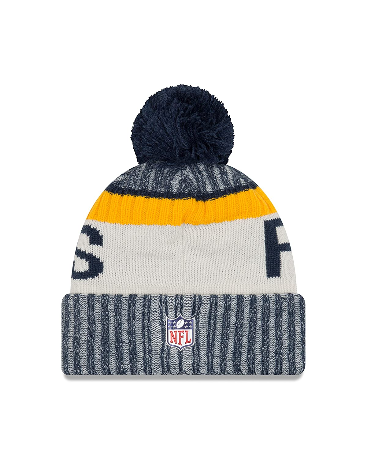 d1588cdc6 Amazon.com   New Era Green Bay Packers Knit Beanie Cap Hat NFL 2017 On  Field 11462739   Sports   Outdoors