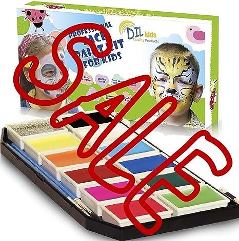 Amazon.com: DIL Face Paint Kit for Kids – 11 colores ...