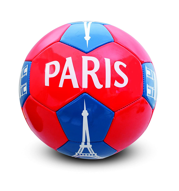 Holisport - HP04592 - Ballon de Football 'Paris' - Mixte - Multicolore (Rouge/Bleu) - Taille: 5 HOM1W|#HOLISPORT