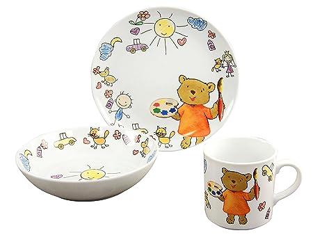 Creatable 15027, Serie Teddy, Cocina Vajilla Infantil (3 Piezas ...