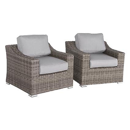 Amazon.com : Century Modern Outdoor Marina Collection Patio Sofa Set ...
