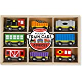 Melissa & Doug Wooden Train Cars (8-Piece Train Set, Great Gift for Girls and Boys - Best for 3, 4, 5 Year Olds and Up)