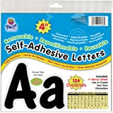 "Pacon 4"" Self-Adhesive Uppercase and Lowercase Letters, 154-Count, Black (51693)"