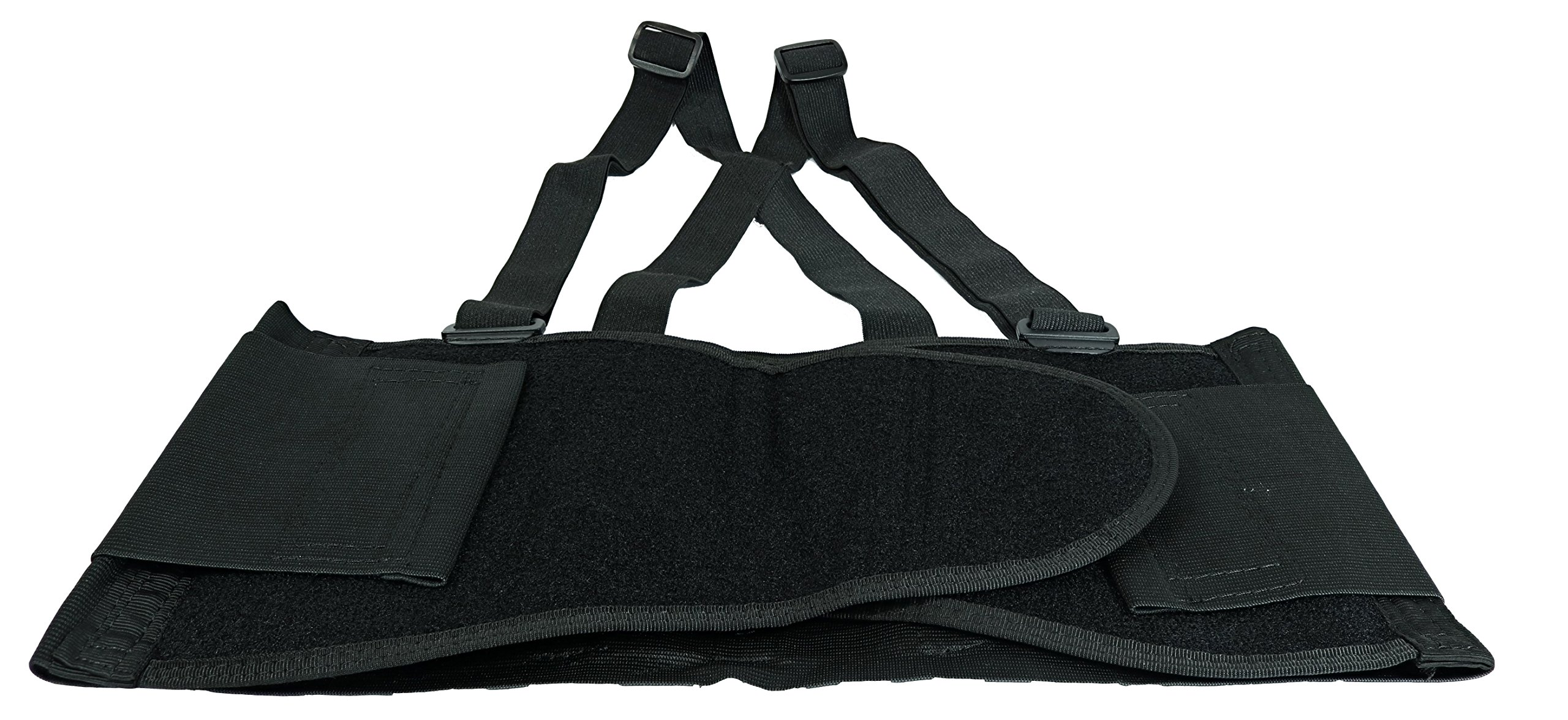 Husky Large Adjustable Hook and Loop Lumbar Support Belt With Adjustable Suspenders (Fits Waist Size 38'' to 47'')