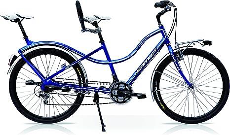 Speedcross Bicicleta Tandem Compact H26, Turquesa: Amazon.es ...