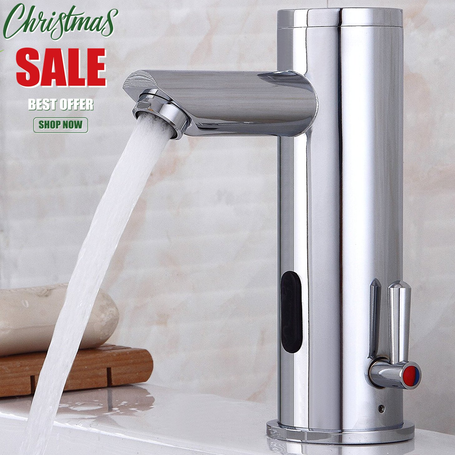 Fyeer Automatic Electronic Sensor Touchless Faucet, Motion Activated ...
