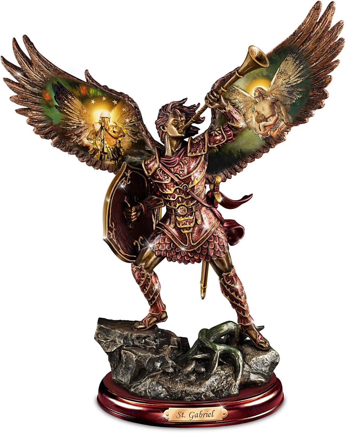 The Bradford Exchange Archangel Gabriel Sculpture with Howard David Johnson Artwork