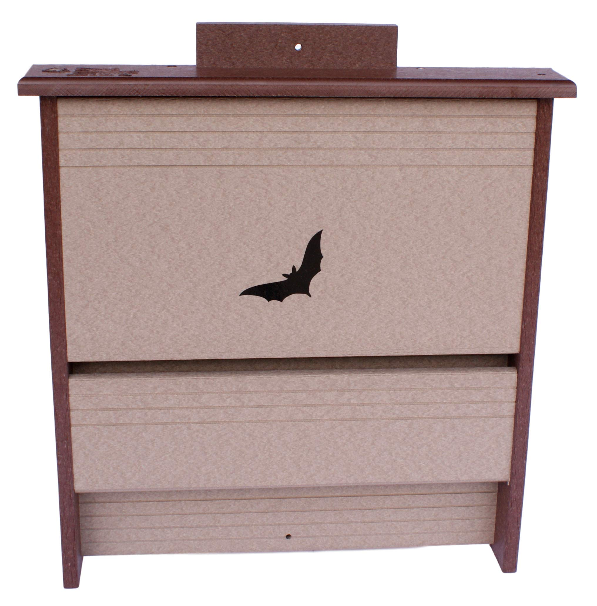 Amish-Made 20 Colony Bat House, Eco-Friendly Poly-Wood (Milwaukee Brown/Weathered Wood)
