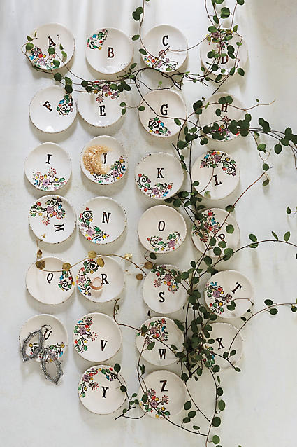 Monogrammed Garland Ring Dish - anthropologie.c​om
