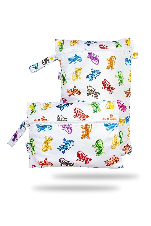 Windelsack Petit Lulu wasserdicht doublesize Windeltasche Wickeltasche N/ässeschutzbeutel Waterproof Wet Bag Baby Elefanten Nasstasche f/ür Stoffwindeln blau Wetbag Organiser Beutel
