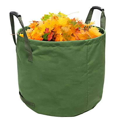 aae8d05e LINGSFIRE Garden Waste Bags Gardening Lawn Leaf Yard Waste Bag Container  Tote Collapsible Trash Can Reusable