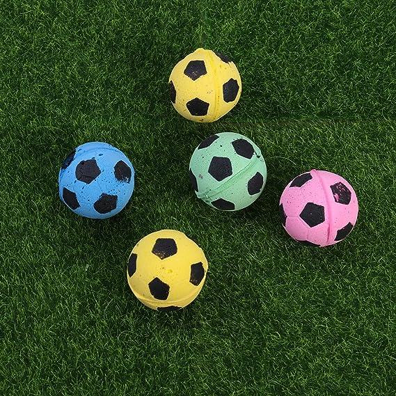 7fbd6e8faa POPETPOP Bola de Fútbol de Esponja del Juguete del Gato Juguetes  Interactivos Gatito Gato Bolas de Juguete Color al Azar  Amazon.es   Productos para mascotas