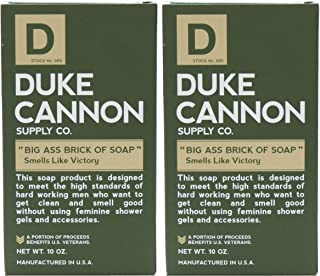 product image for Duke Cannon Supply Co. - Big Ass Brick of Soap, Smells Like Victory (2 Pack of 10 oz) Superior Grade Masculine Scent Bar Soap Designed for Hardworking Men - Clean, Fresh With a Hint of Seagrass