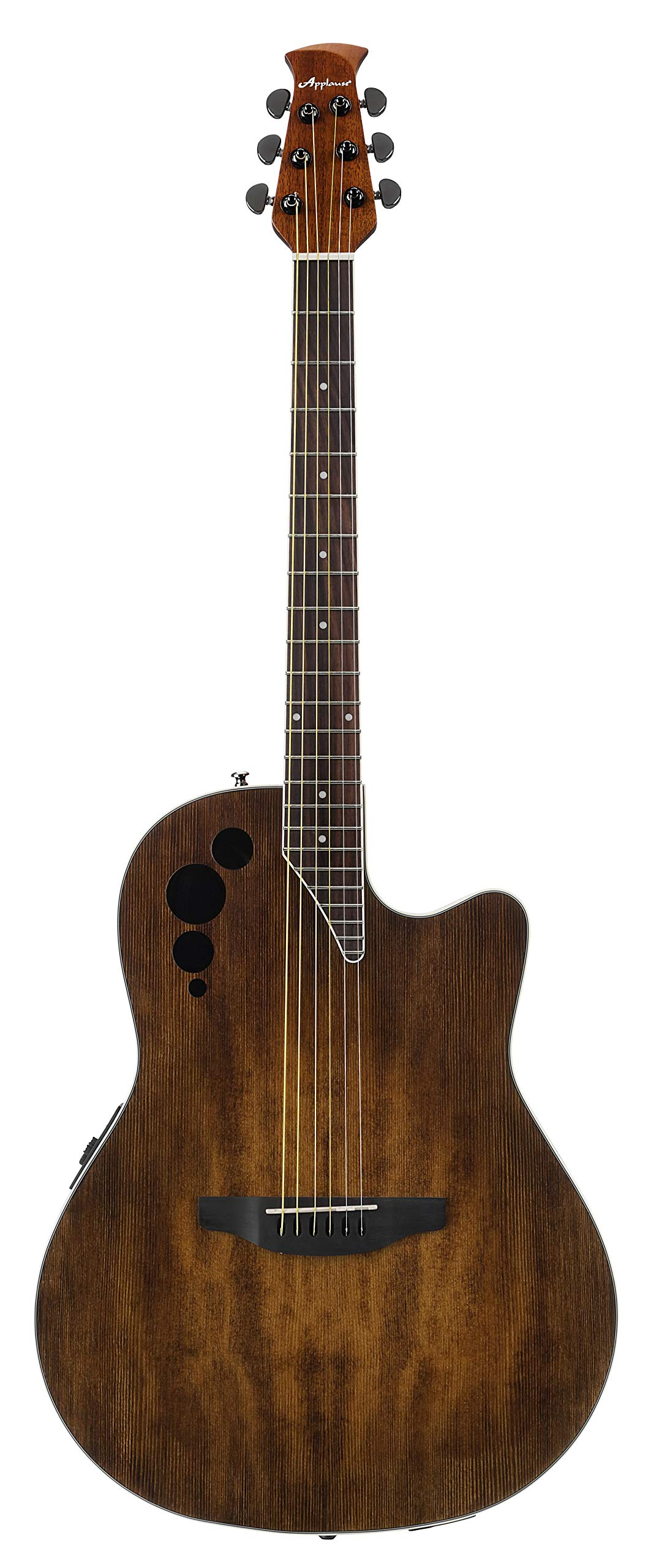 Ovation Applause 6 String Acoustic-Electric Guitar Right, Vintage Varnish Mid-Depth AE44II-VV