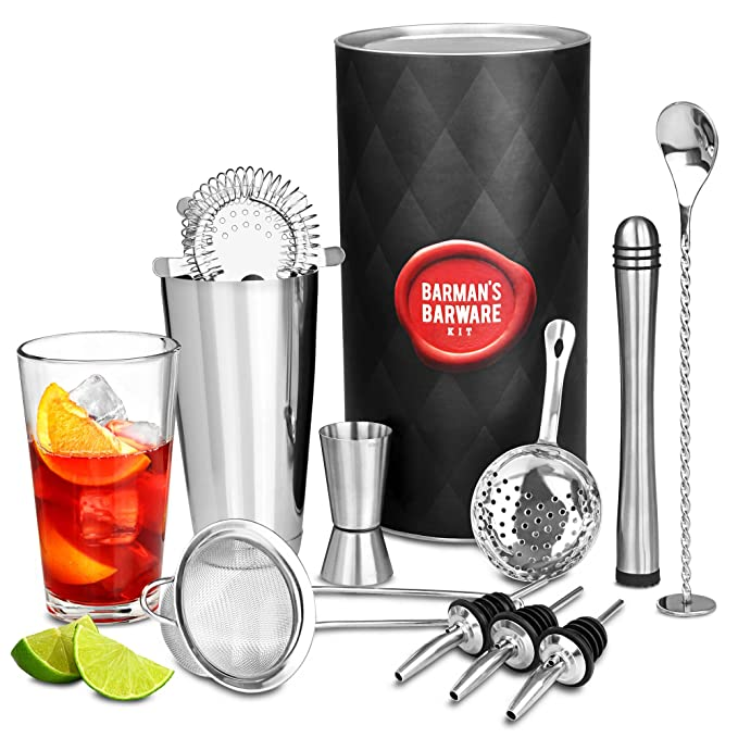 Amazon.de: bar@drinkstuff Barkeeper-Set, Mixer und Glas, verdrehtem ...