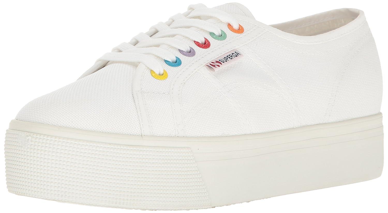 Superga Women's 2790 Coloreycotw Fashion Sneaker B01N9WBL3X 38 M EU / 7.5 B(M) US|White/Multi