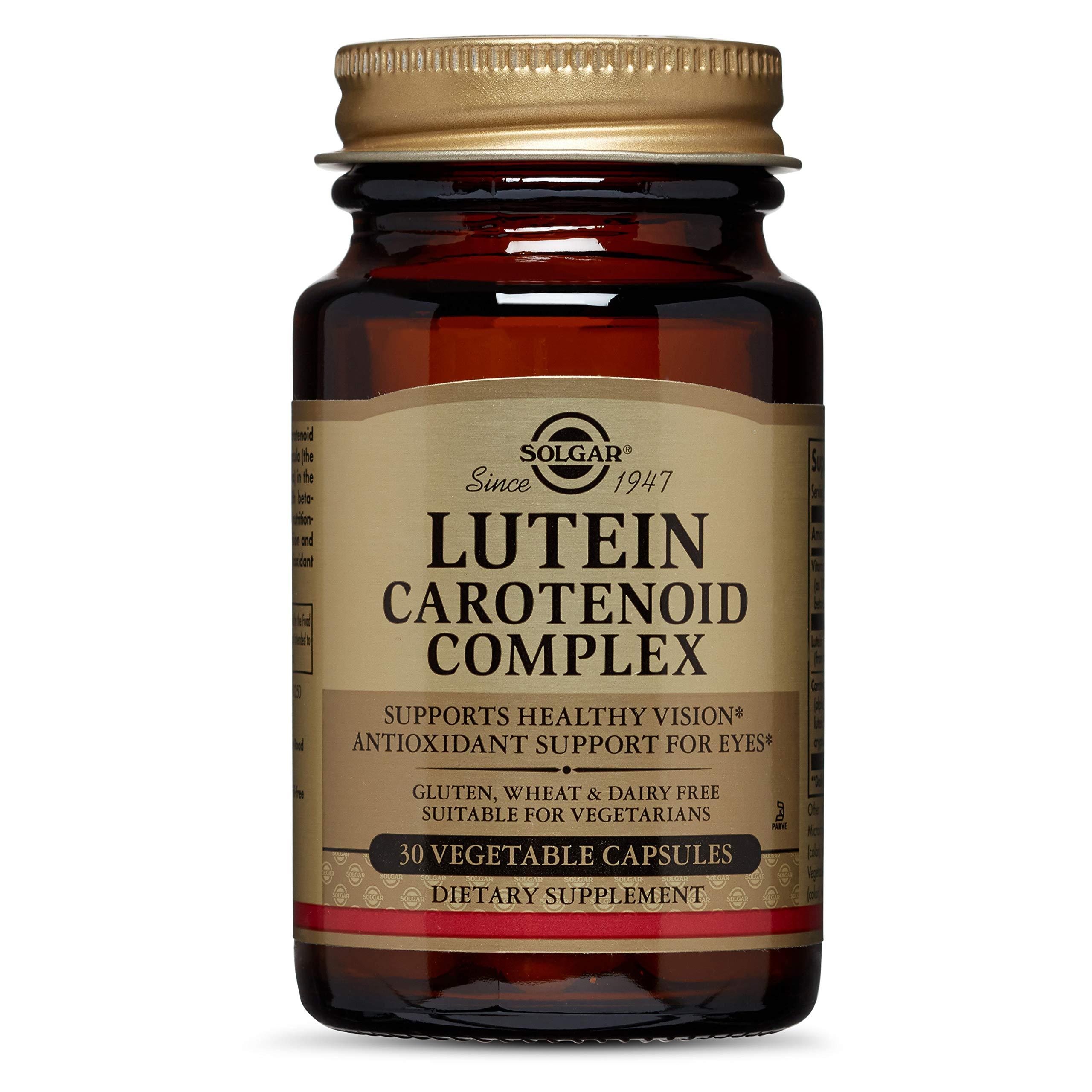 Solgar Lutein Carotenoid Complex Vegetable Capsules, 30 Count by Solgar