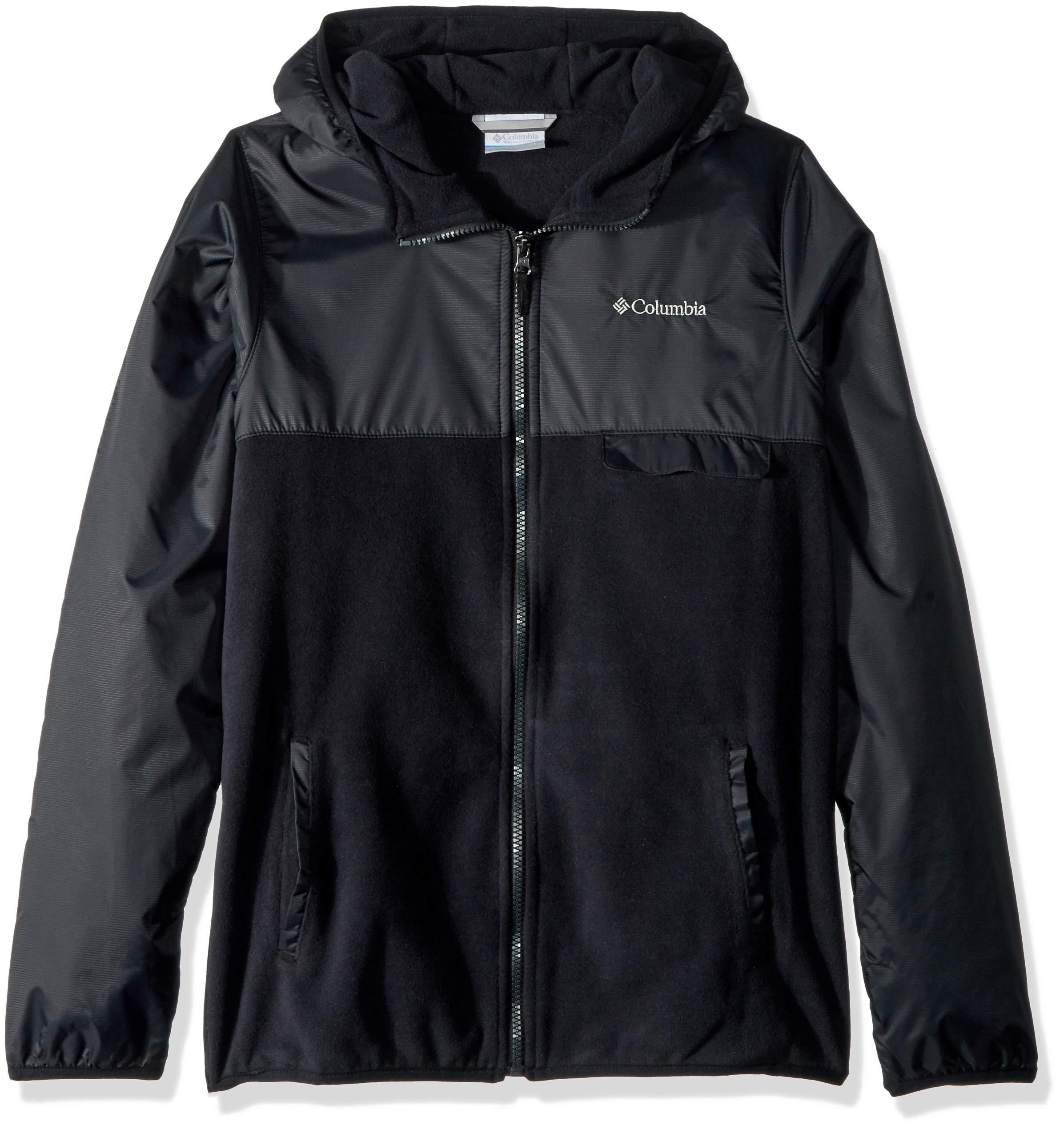 Columbia Little Boy's Mountain SideOverlay Full Zip Fleece, Small, Black