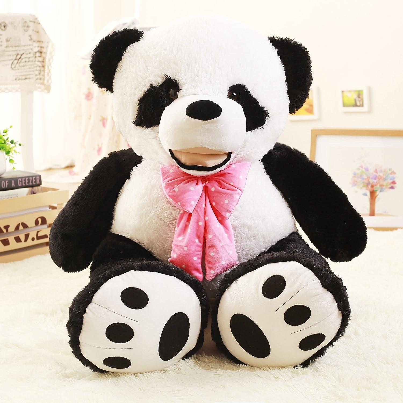 160cm VERCART Giant Panda Plüschtier mit Krawatte Kind Spielzeug Geburtstagsgeschenk 160cm