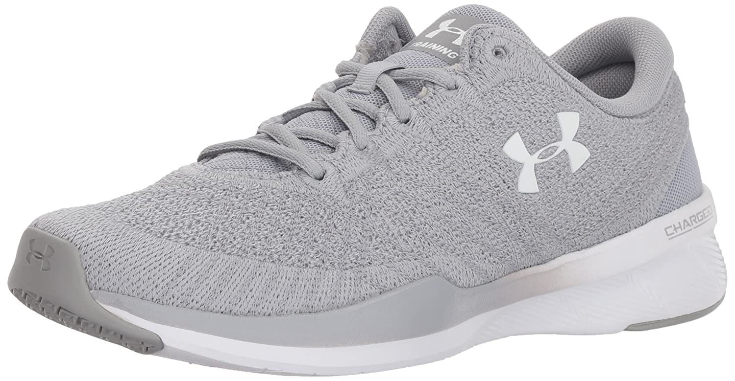 Under Armour Women's Threadborne Push Cross-Trainer Shoe B0728CCQWM 12 M US|Overcast Gray (104)/Overcast Gray