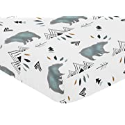 Sweet Jojo Designs Baby or Toddler Fitted Crib Sheet for Bear Mountain Watercolor Collection by