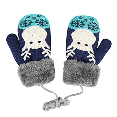 Gloves & Mittens Winter Children Knitted Warm Rope Gloves Full Finger Mittens Hand Muff Kid Baby Gloves For Children Toddler Thickened Ski Gloves