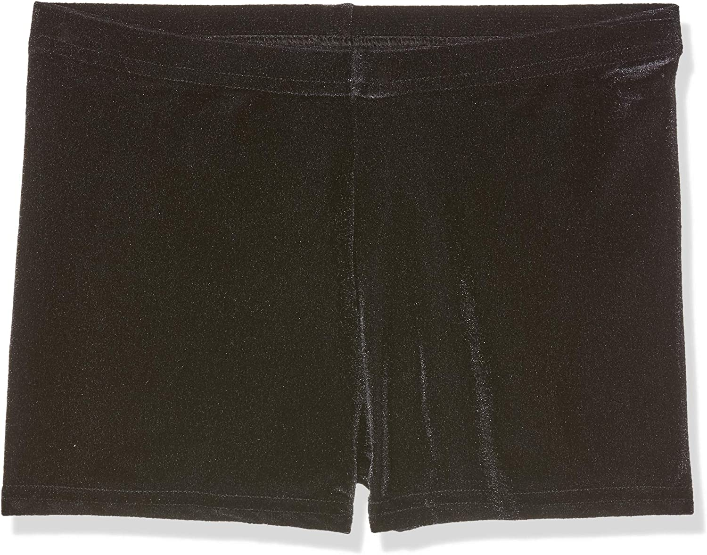 6-8 years for dance//gymnastics Girls Black Velvet Hipster Micro Shorts Size 1