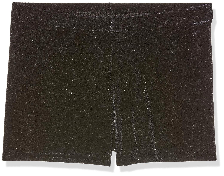 Hipster-Micro, Pantaloncini in velluto nero, per danza/ginnastica