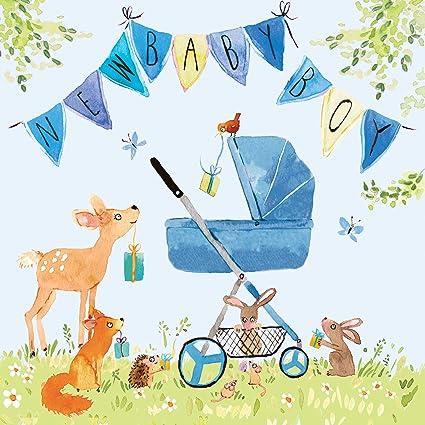 Twizler - Tarjeta de felicitación para recién nacido, diseño de bebé ...