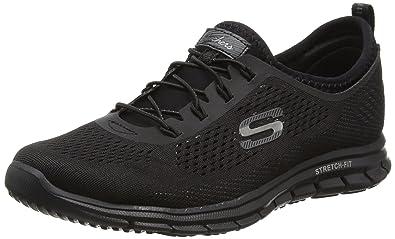 Skechers Womens Stretch Fit: Glider Black Walking Shoe - 5.5